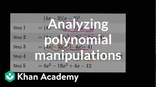 Analyzing Polynomial Manipulations