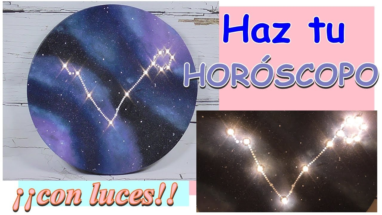 Como hacer una galaxia con cartón y luces led - Constelación Piscis. Horóscopo.