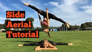 How to do an aerial (no handed cartwheel) for beginners | The Rybka Twins
