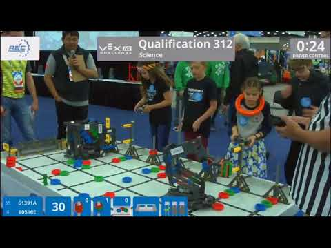 Team 80516E 2018 Worlds Qualification match 312 – Dillon & Maia