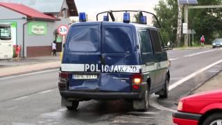 Łężany - Wypadek policyjnego radiowozu