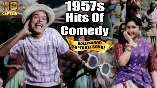 1957s Comedy Bollywood  Video Songs  | Popular Hindi Songs | Dev Anand Johnny Walker Kishor Kumar