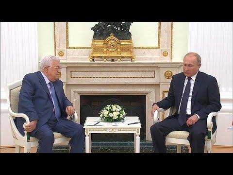 العرب اليوم - بوتين يلتقي عباس قبيل القمة الروسية الأميركية