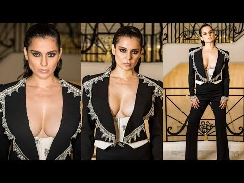 Kangana Ranaut Stuns In Edgy Pant-Suit For Cannes 2019 Party