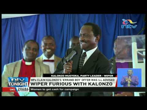 MPs claim Kalonzo's 'errand boy' offer was ill-advised