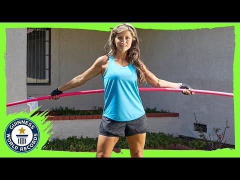 World Record Hula Hoop Spin