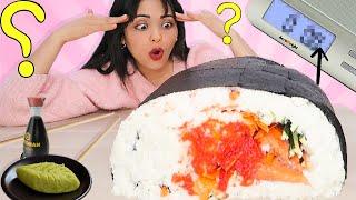 صنعت أكبر حبة سوشي في العالم | حطمت الرقم العالمي... 😭