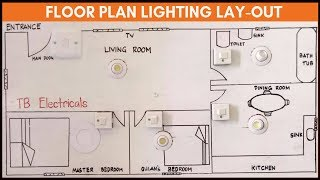 Single Switch Wiring with Floor Plan Lighting Lay-out