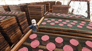 和歌山「金鳥」蚊取り線香工場見学