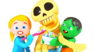 FUNNY KIDS HAVE A FUN SNACK ❤ Play Doh Cartoons For Kids