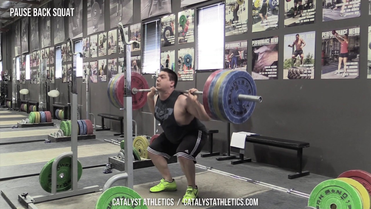 Pause Back Squat Exercise Library Demo Videos