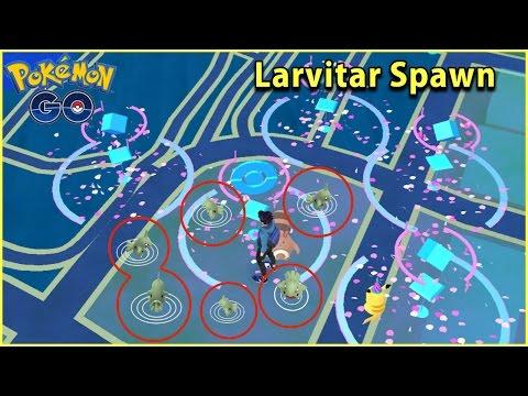 Video FINDING LARVITAR SPAWNS IN POKEMON GO