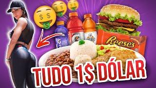24h comendo SÓ comidas de 1 dólar. | #DESAFIO #BATENDOOSMACROS