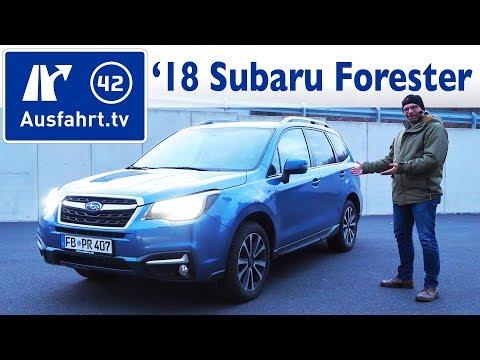 2018 Subaru Forester 2.0X Platinum Lineartronic  - Kaufberatung, Test, Review