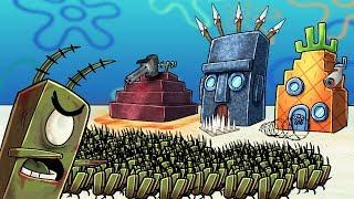 Minecraft   SECURE BASE CHALLENGE IN BIKINI BOTTOM - Zombie Planktons! (Spongebob Base)