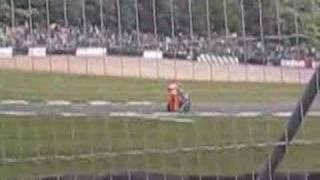 Scott Redding wins the 125cc Moto GP race at Donnington Park, 2008