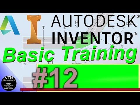 AutoDesk INVENTOR Basic Training 12 ( Projects ) - YouTube
