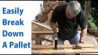 How To Easily Disassemble A Pallet For Pallet Projects: Woodworking For Beginners #10\