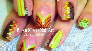 Easy Fall Nails   DIY Thanksgiving Nail Art Design Tutorial