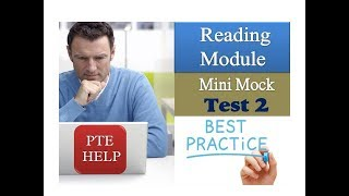 PTE Reading Mini mock Test 2 | Best to check your level quickly | on students' repeated demand