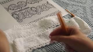 "Филейный белый топ"" Сухоцветы от Валентино"" ( Knitted lace) (В №19)"