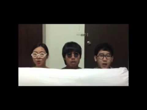 Clip Cảm động 3 người hát cover Banana