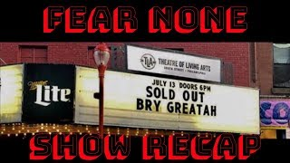 Sold Out Bry Greatah Show At TLA Feat Recohavoc, Kur and more (This why they hating on him)