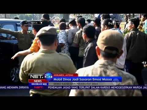 Demo Kades dan Perangkat Desa di Kebumen NET24