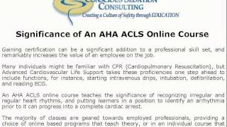 AHA ACLS Online Course