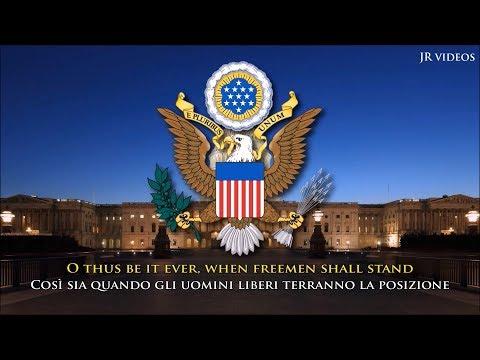 L'Inno nazionale degli Stati Uniti d'America (EN/IT testo) - Anthem of USA (Italian)