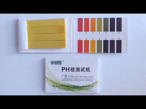 Лакмусовая бумага для измерения PH, обзор и тест.