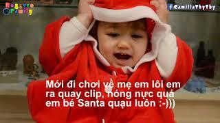 """Em Tập Nói Theo Mẹ/ Em Bé Santa """"dạ"""" Mẹ :-) (Annalisa LyLy 1 Tuổi)"""