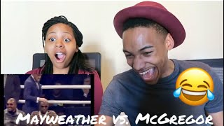 Conor Mcgregor vs.Floyd Mayweather at London Press Conference **Reaction**