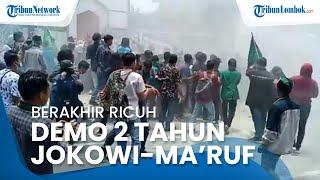 Demo 2 Tahun Jokowi-Ma'ruf di Depan Kantor DPRD NTB Berakhir Ricuh, Beberapa Mahasiswa Luka-luka