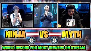 NINJA VS MYTH BREAKS TWITCH VIEWER RECORD! Ninja Vegas Fortnite Event Full Highlights! (Fortnite)