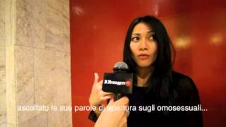 Anggun interviewed by Italian media in Assisi