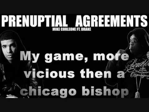 KingCo ft Drake -Prenuptial Agreements w lyrics