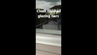 How we remove old paint from Rationel windows metal glazing bars and locking ports.