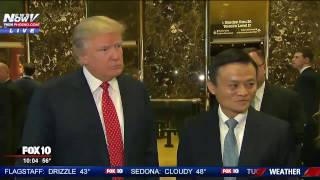 MAJOR: Alibaba CEO Jack Ma Speaks After Meeting with Donald Trump at Trump Tower - FNN
