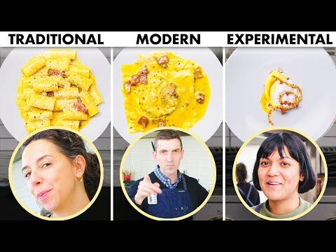 3 CHEFS COOK PASTA CARBONARA 3 WAYS: TRADITIONAL, MODERN, EXPERIMENTAL   BON APPÉTIT