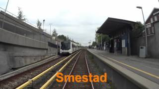 Oslo Video kart Cabview Oslo metro Line 2 west-east full