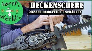 Heckenscherenmesser zerlegen und schärfen. Heckenscheren Service Honda HHH25D