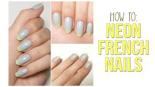 How to: Neon French Nails
