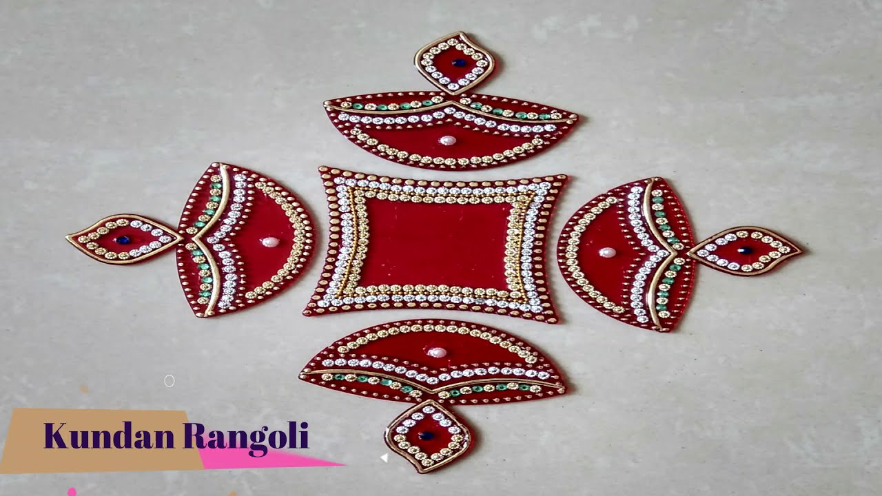 acrylic kundan rangoli design diy by all in one