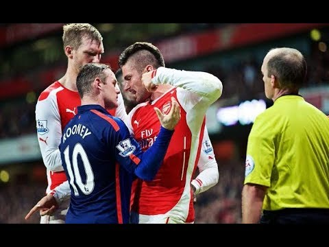 THE DIRTY SIDE OF MANCHESTER UNITED VS ARSENAL●FIGHTS●FOULS●RED CARDS