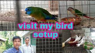 Ajoy dada visit my bird setup from Ganga sagar and purchase some birds.