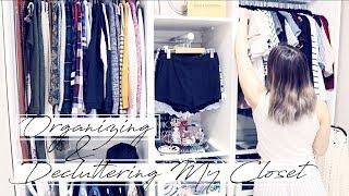 DECLUTTERING & ORGANIZING MY CLOSET! || The Konmari Method