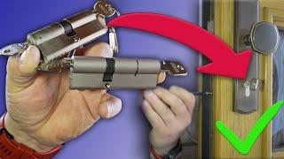 Schließzylinder messen und wechseln / Welcher ist der Richtige? Und worauf muss ich achten?