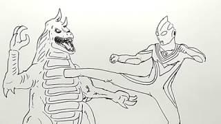 Mewarnai Ultraman Tiga मफत ऑनलइन वडय