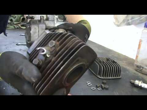 Restauro passo-passo di una moto d'epoca - Ep. 1 Smontaggio di testata, cilindro e pistone.